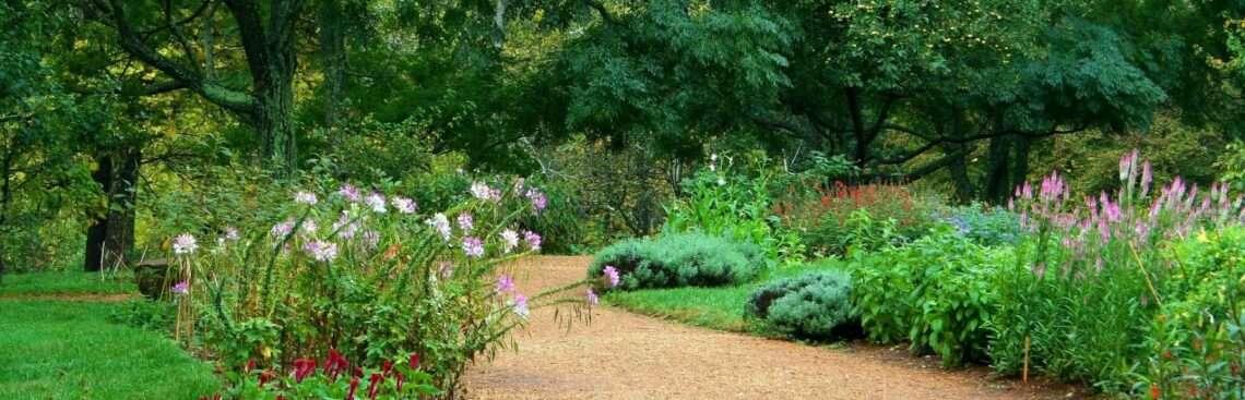 murvával borított kerti út